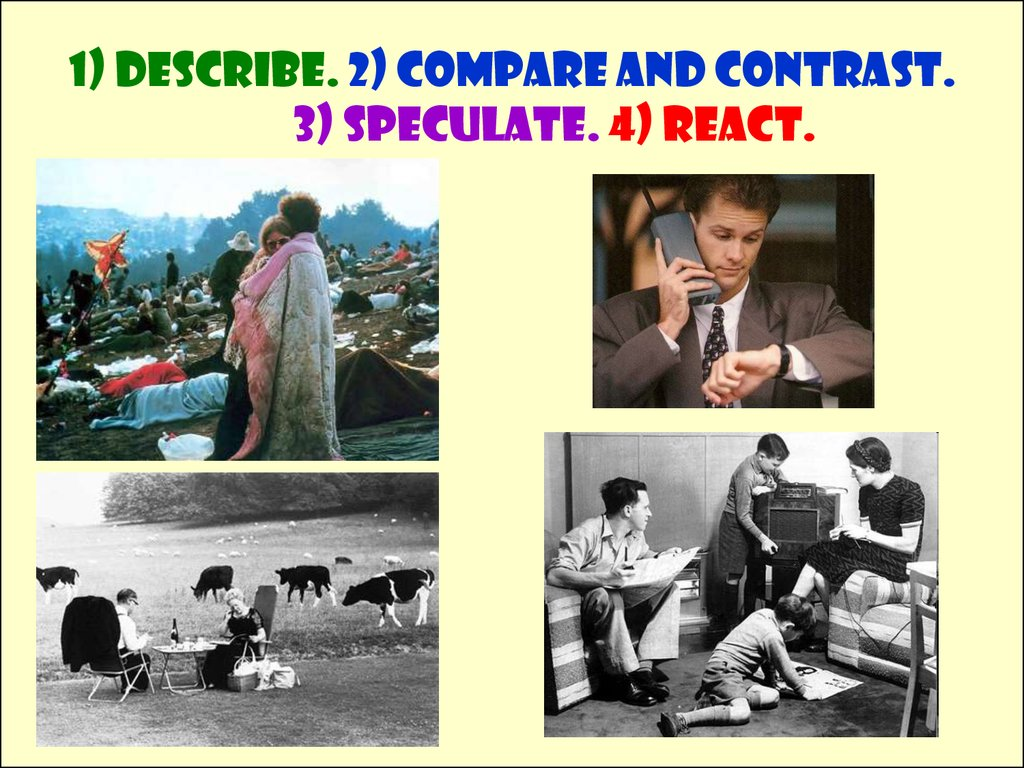 compare and contrast essays on leisure activities of now vs the 1940 s Category: compare contrast comparison title: comparing families of fifty years ago with families of today.