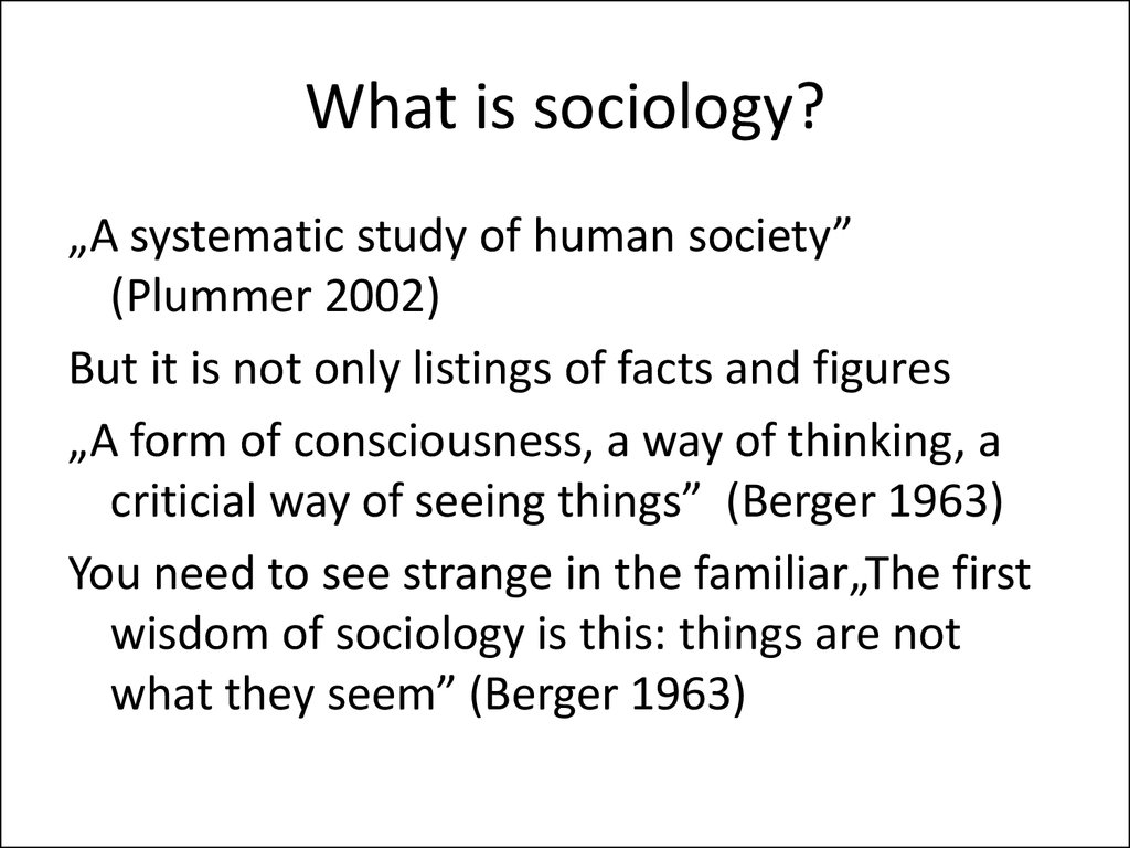 an introduction to the formal definition of sociology