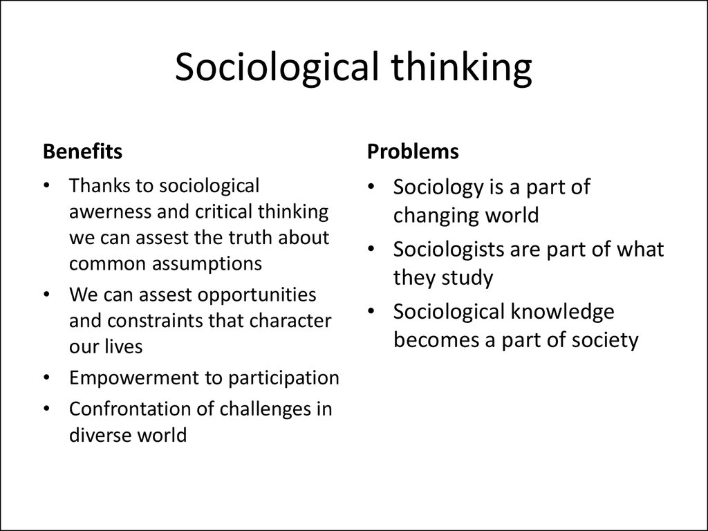 Sociological thinking