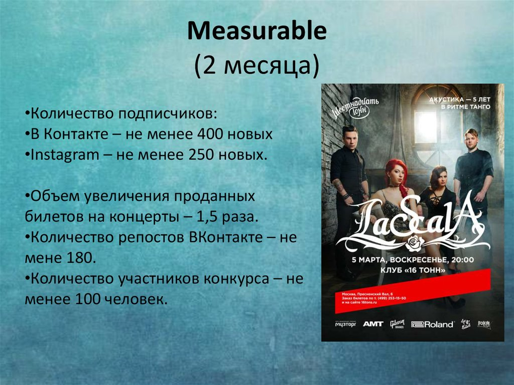 Measurable (2 месяца)