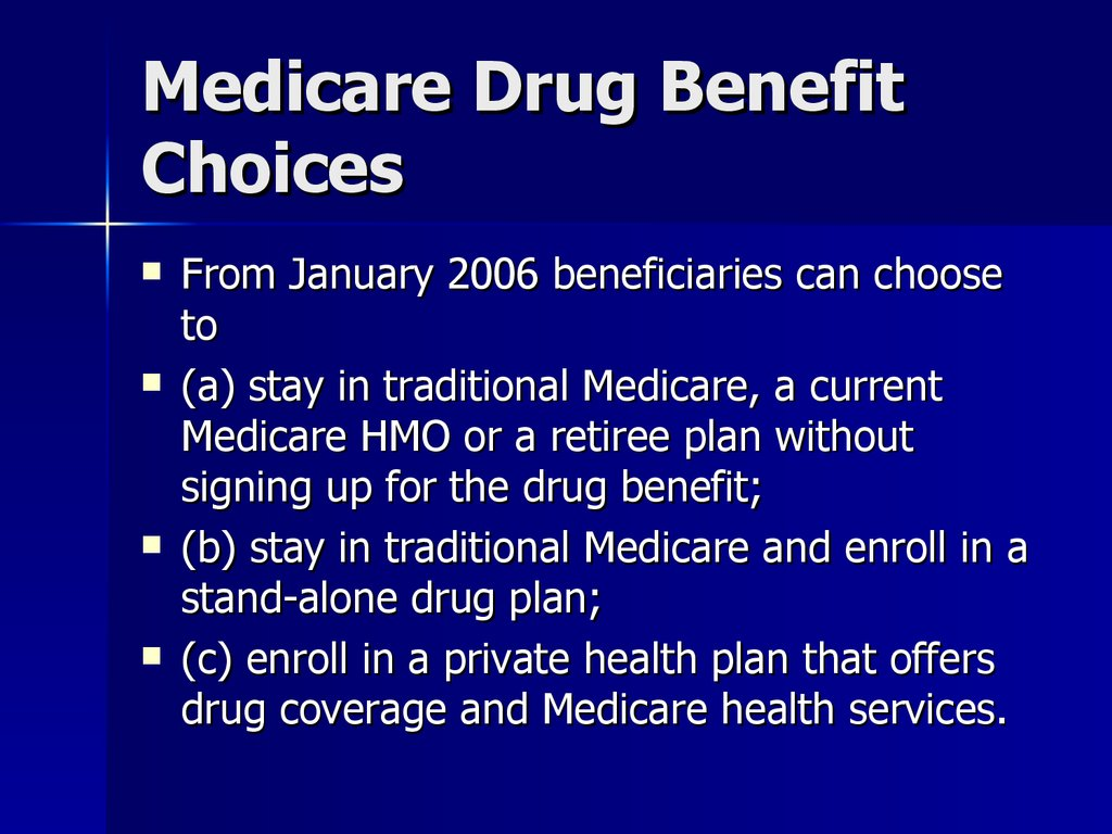 Medicare Drug Benefit Choices