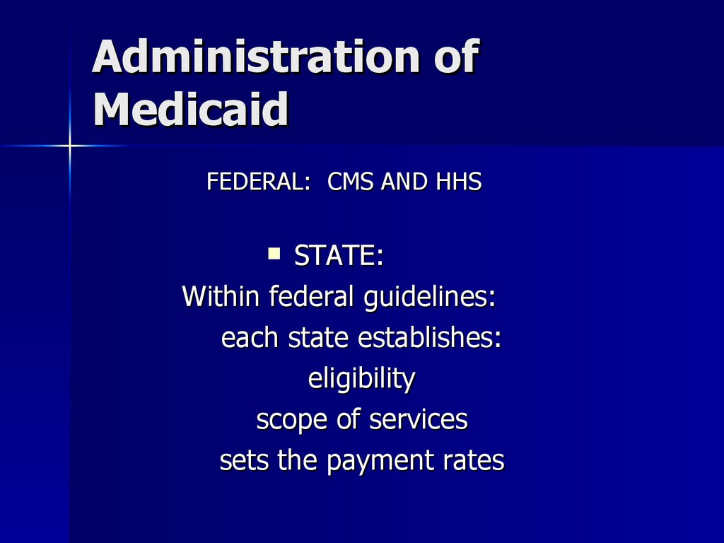Administration of Medicaid