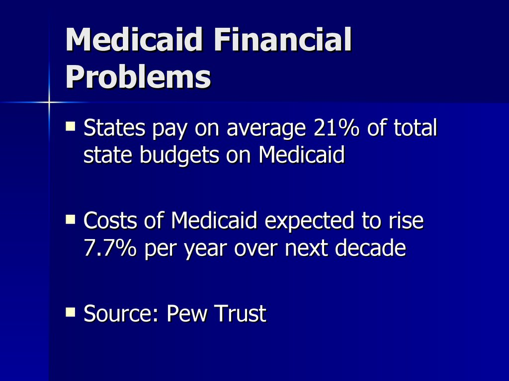 Medicaid Financial Problems