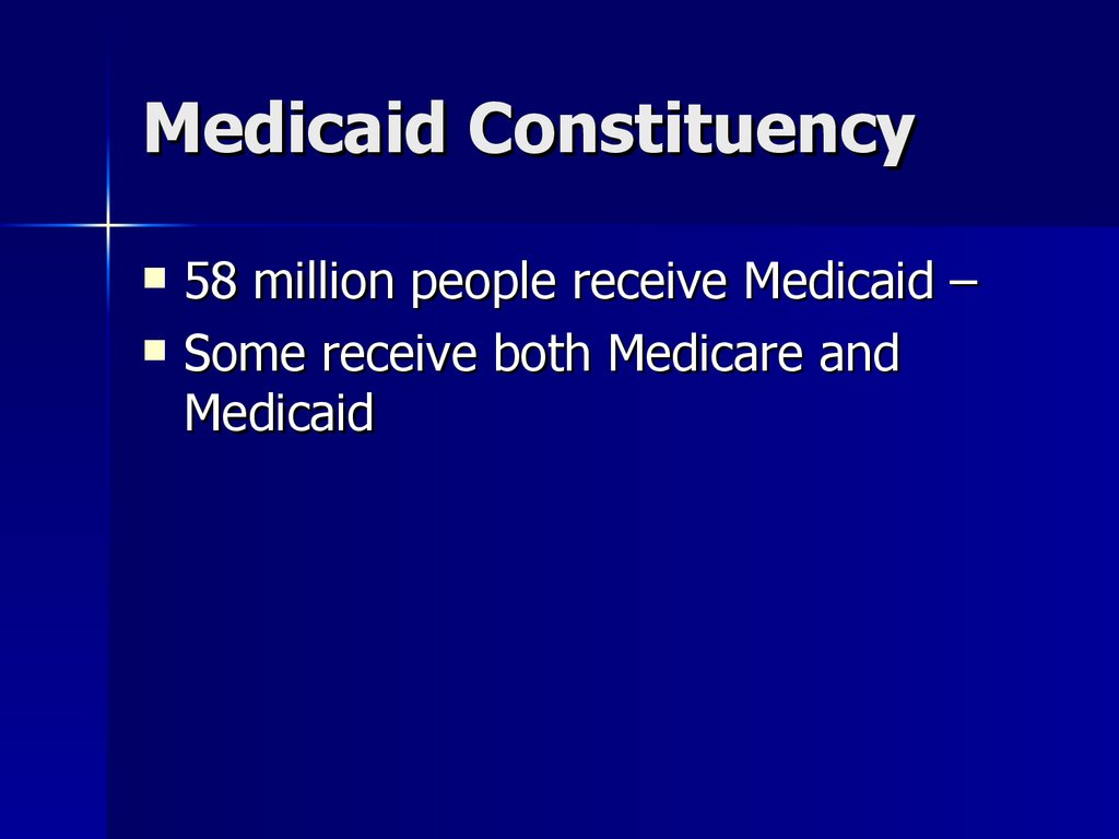 Medicaid Constituency