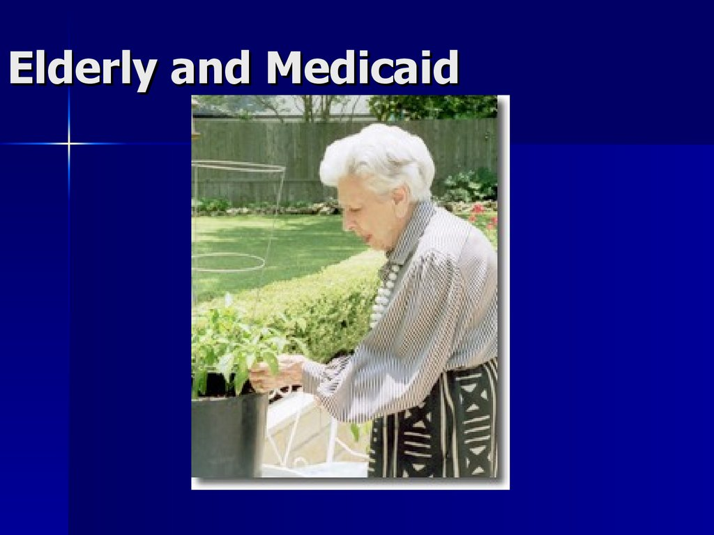 Elderly and Medicaid