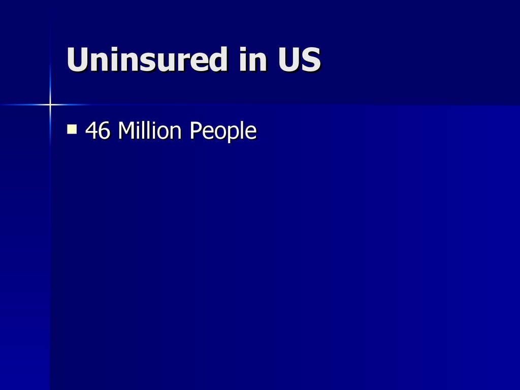 Uninsured in US