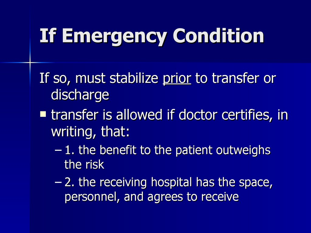 If Emergency Condition