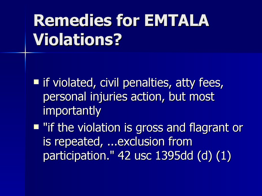Remedies for EMTALA Violations?