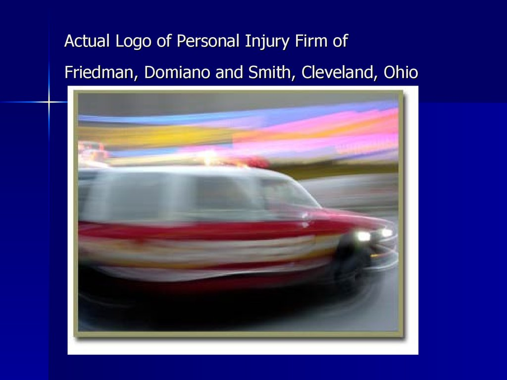Actual Logo of Personal Injury Firm of Friedman, Domiano and Smith, Cleveland, Ohio