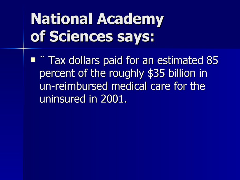 National Academy of Sciences says:
