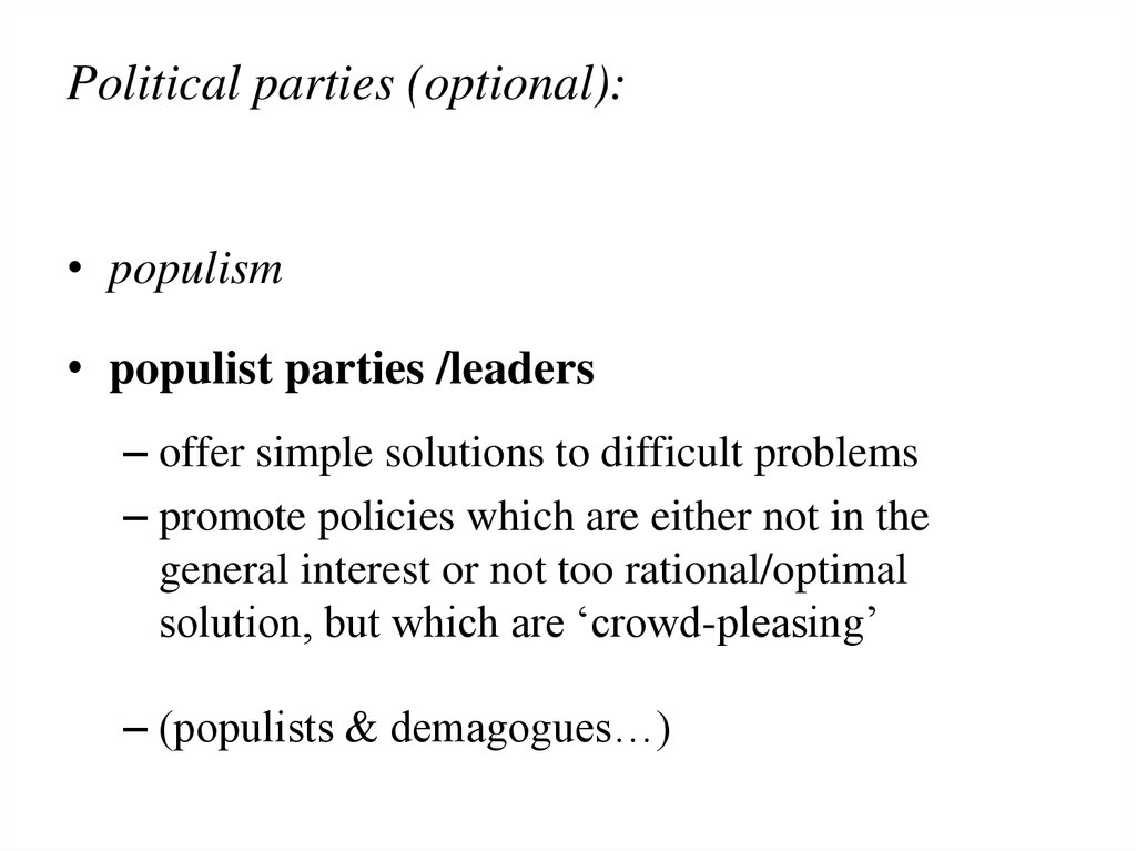 Political parties (optional):