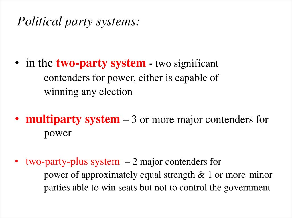 Political party systems: