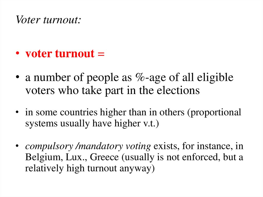 Voter turnout: