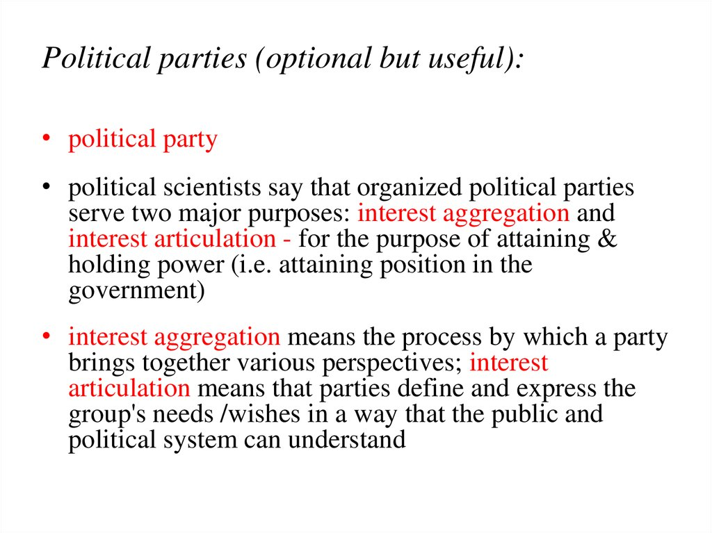 Political parties (optional but useful):