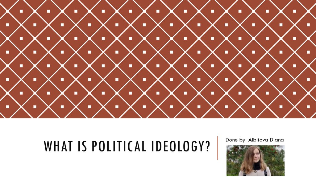 What is political ideology?
