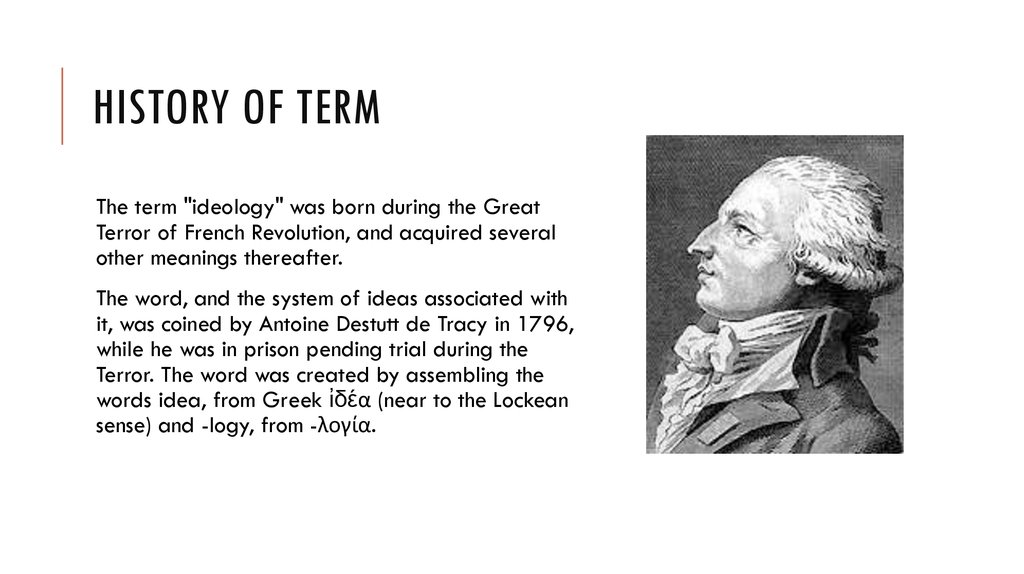 History of term