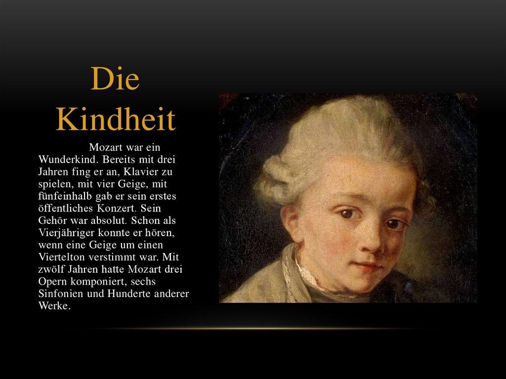 Lebenslauf Von Wolfgang Amadeus Mozart Online Presentation
