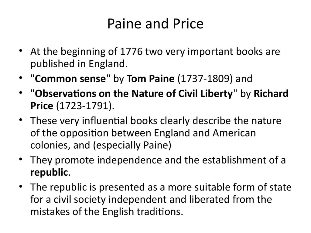 Paine and Price