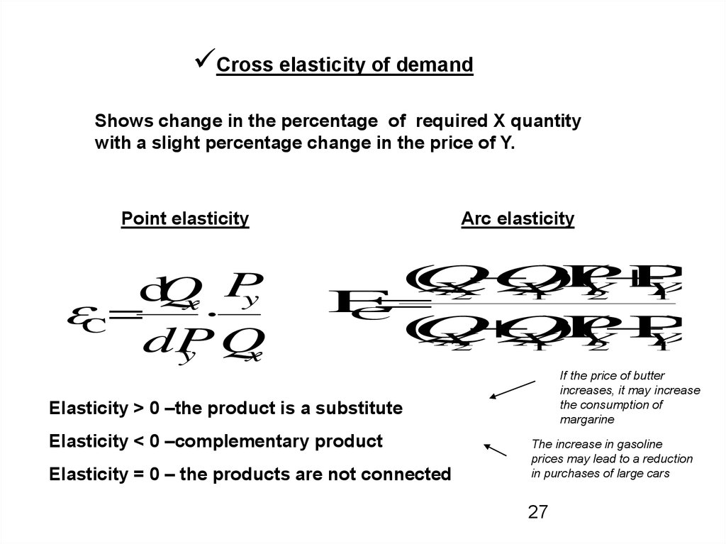 Another Types Of Elasticity Connection Of Income And Elasticity Online Presentation