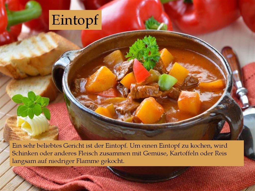 Deutsche Küche Und Spezialitäten