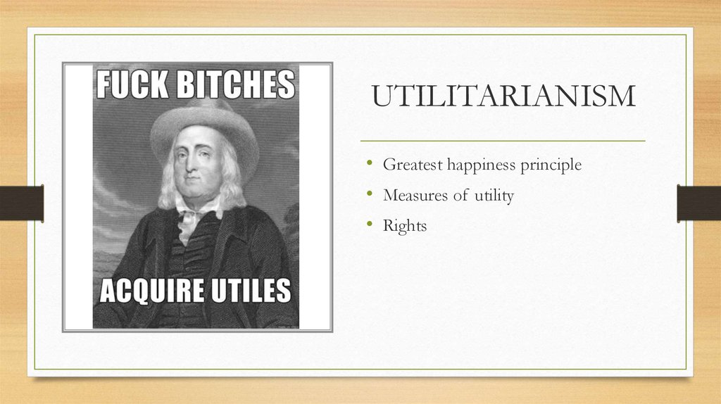 utilitarianism and greatest happiness
