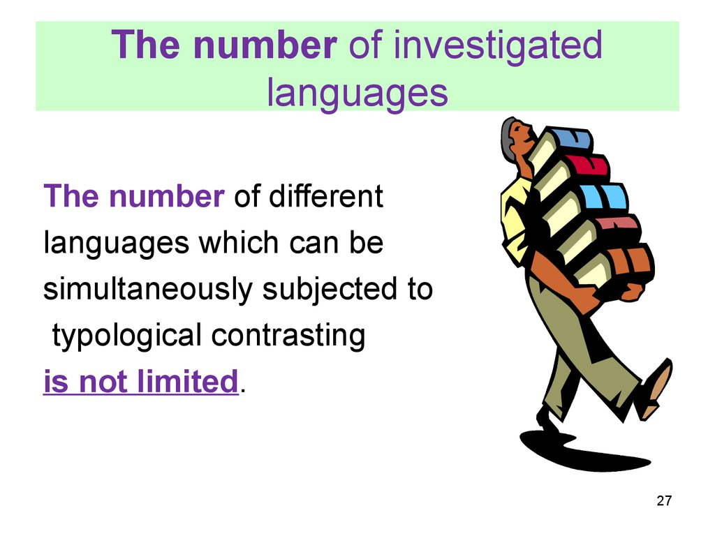 The number of investigated languages