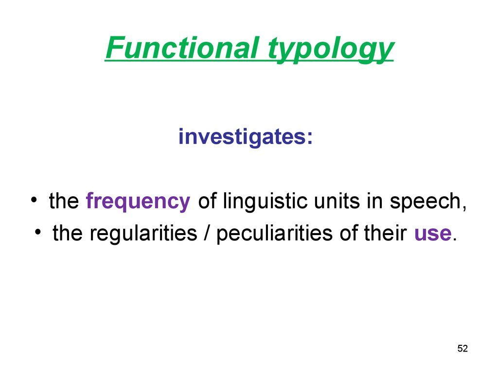 Functional typology