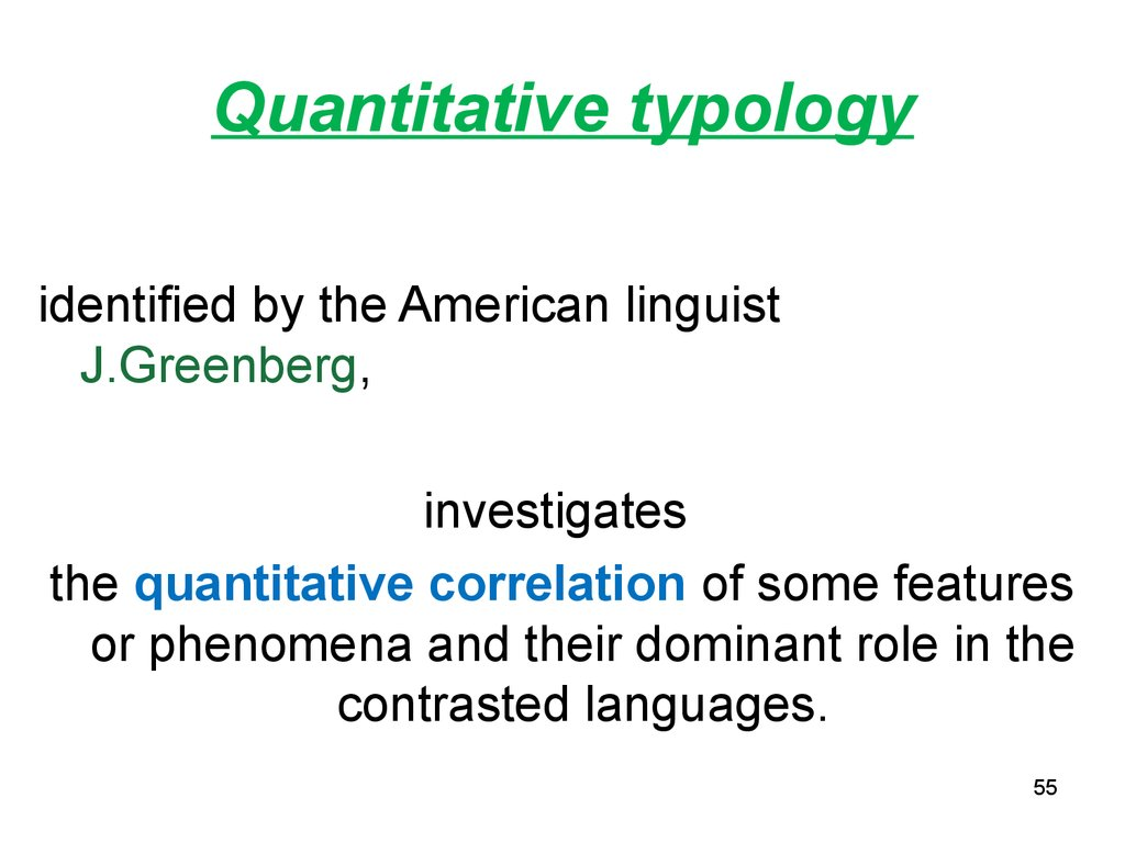 Quantitative typology