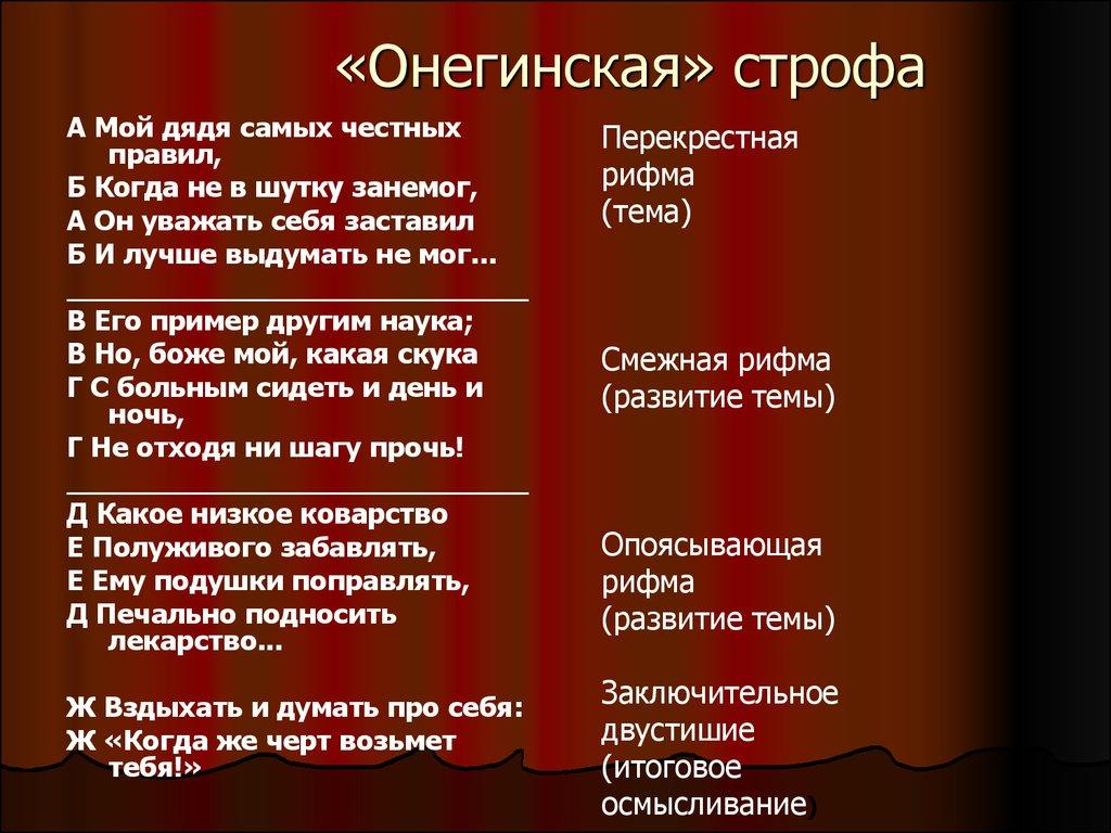 Стихи пушкина 3 строфы