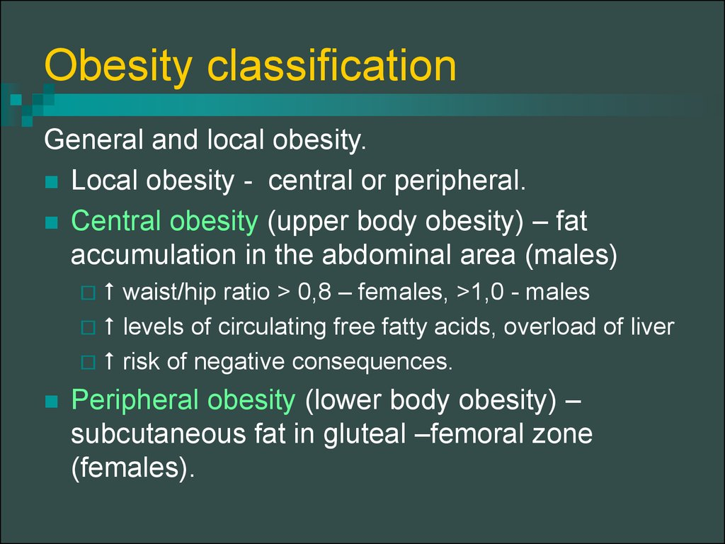 Obesity classification
