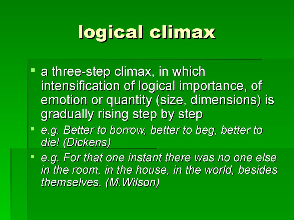logical climax