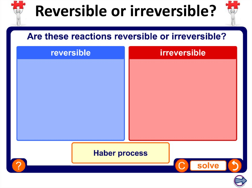 Reversible or irreversible?