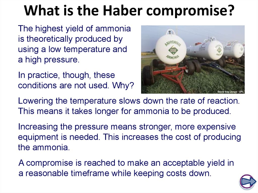 What is the Haber compromise?