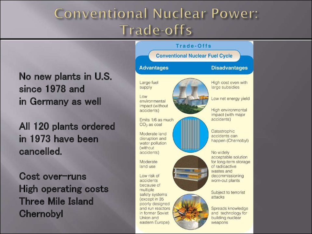 Conventional Nuclear Power: Trade-offs