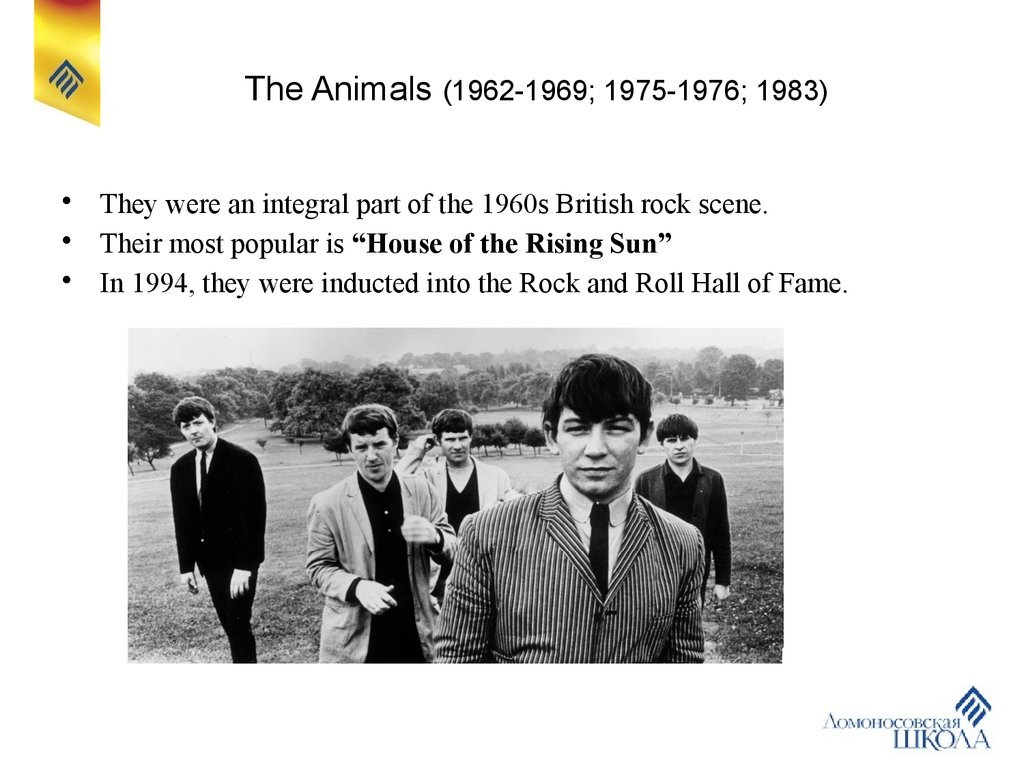 The Animals (1962-1969; 1975-1976; 1983)