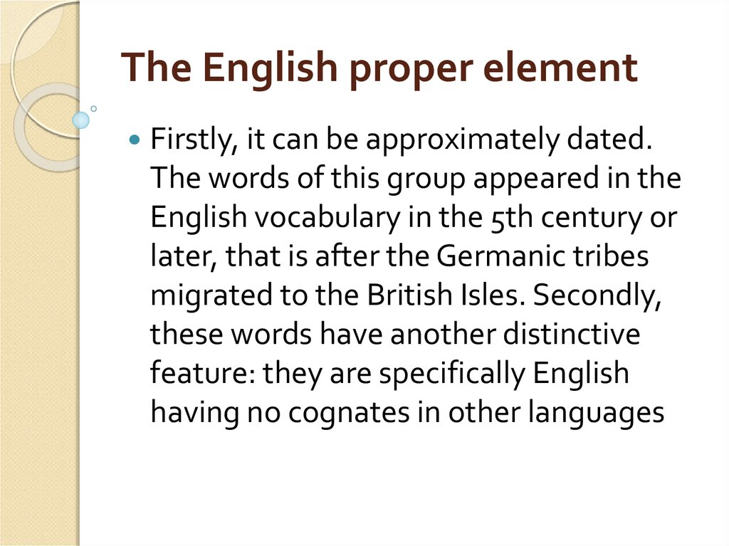 The English proper element