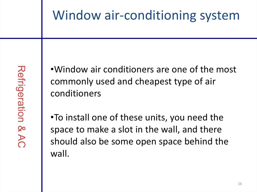 Window air-conditioning system