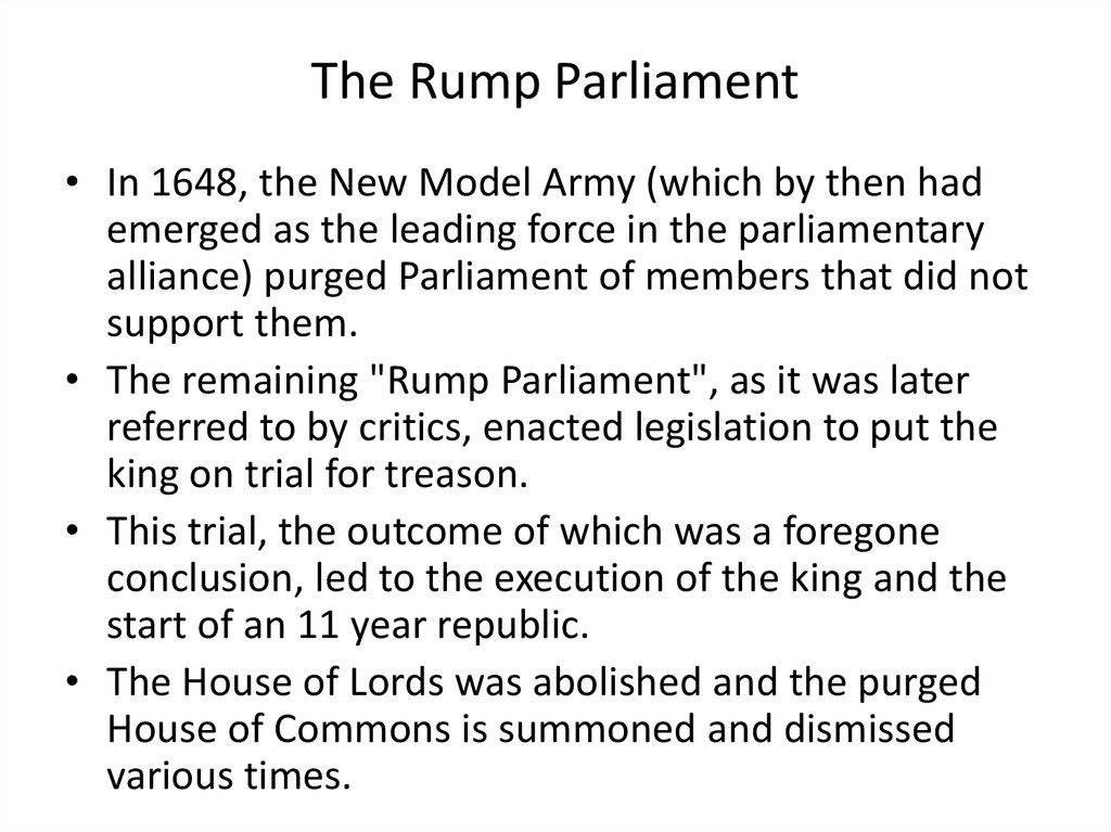 The Rump Parliament