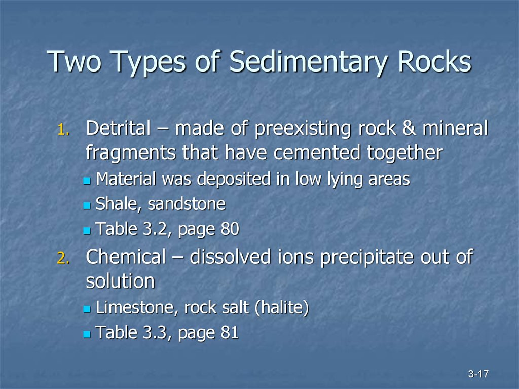 Two Types of Sedimentary Rocks