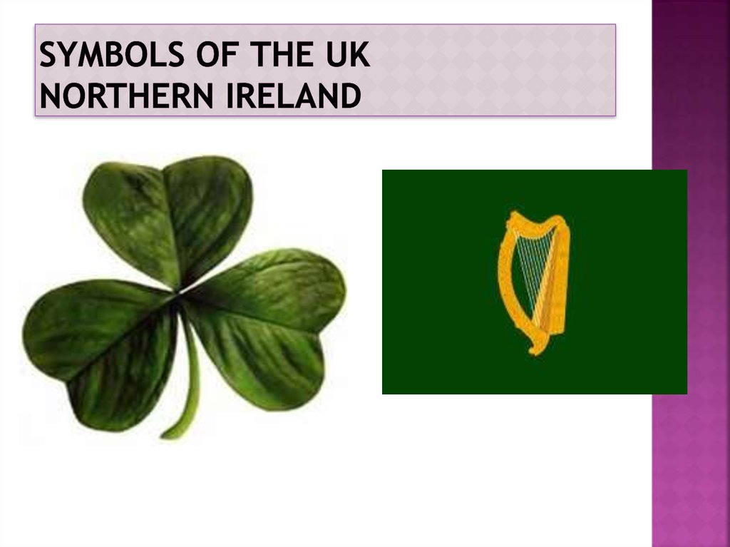 Symbols of the UK Northern Ireland