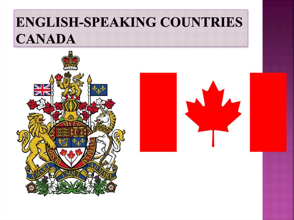 English-speaking countries Canada
