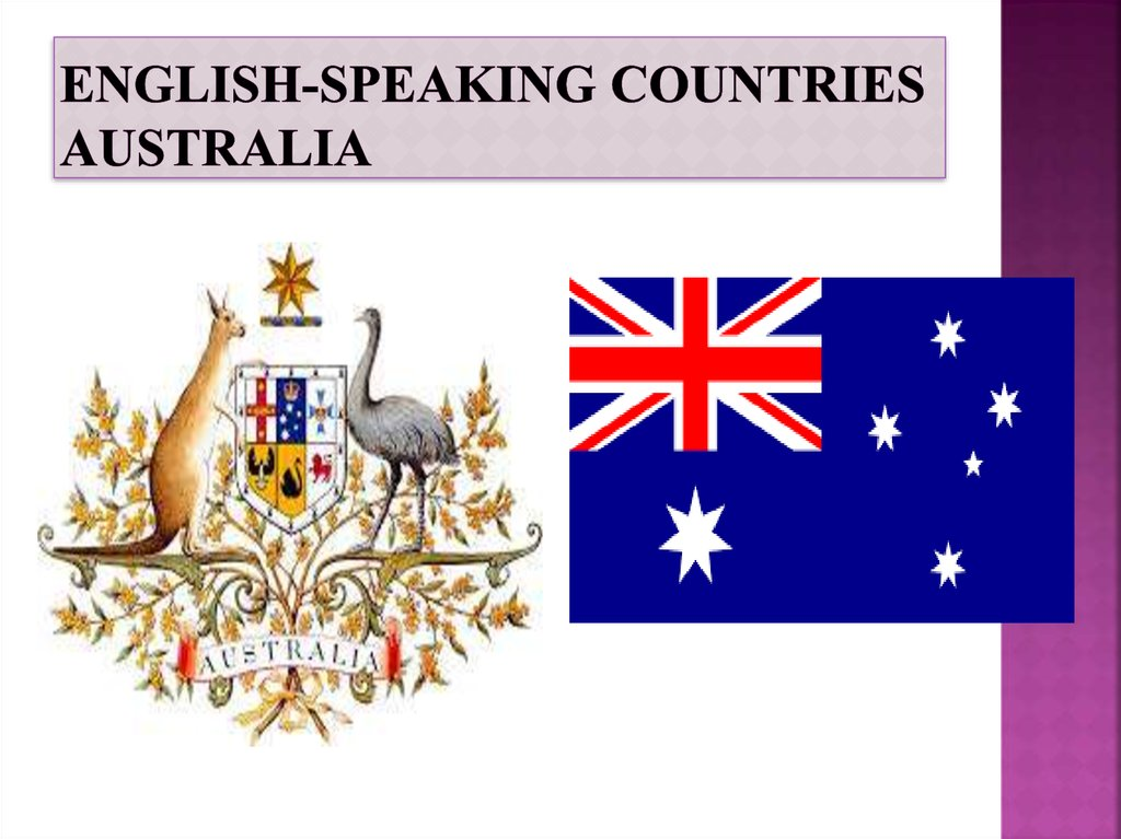 English-speaking countries Australia