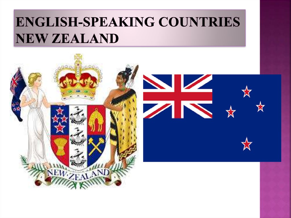 English-speaking countries New Zealand
