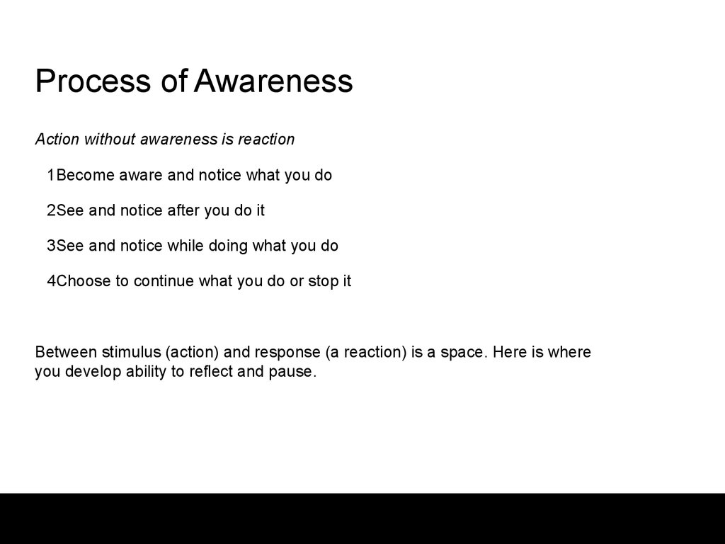 Process of Awareness