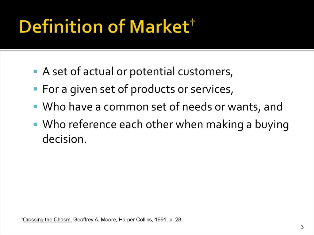 Definition of Market†