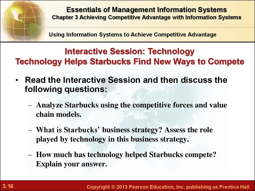 management information system used in starbucks