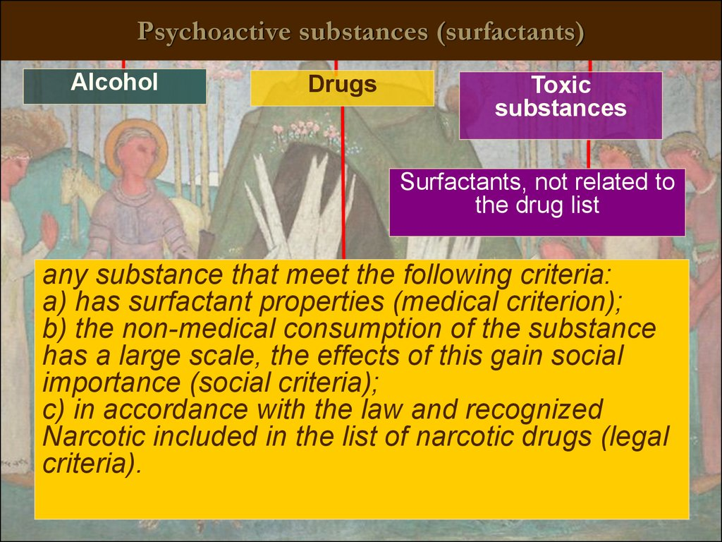 Psychoactive substances (surfactants)