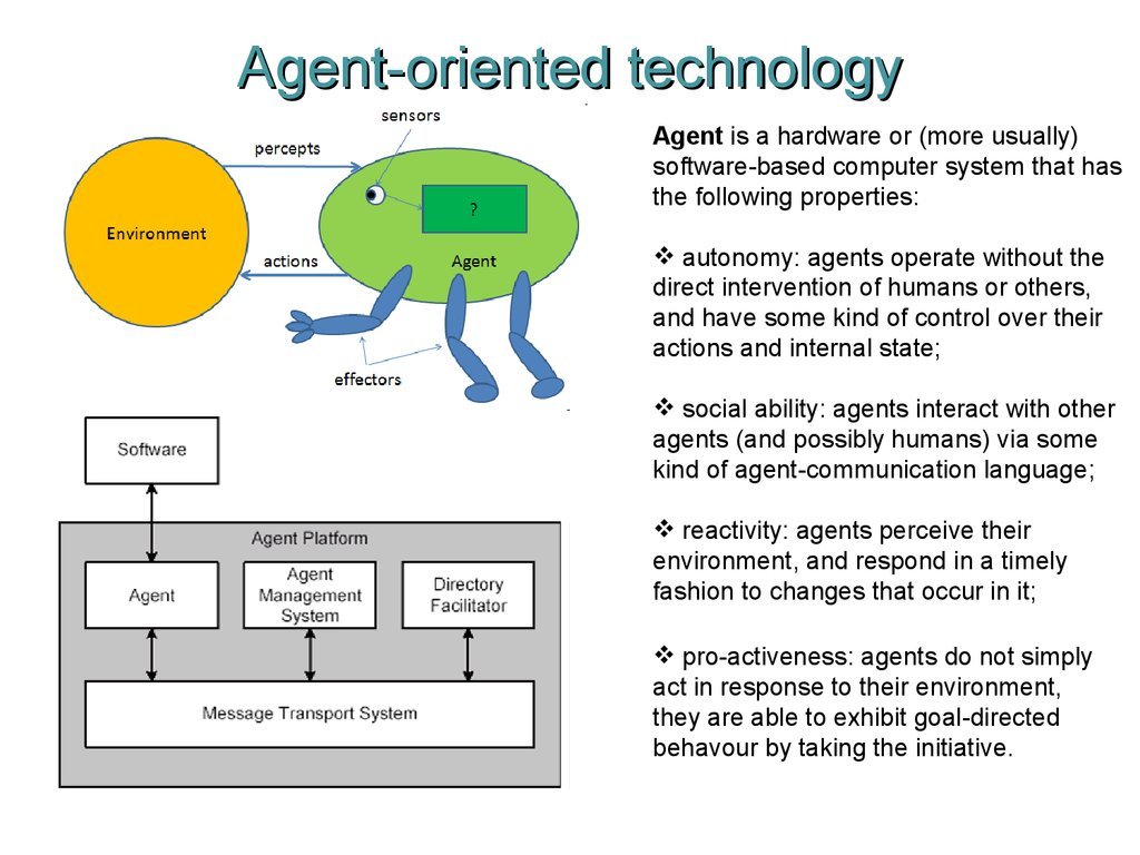 Agent-oriented technology