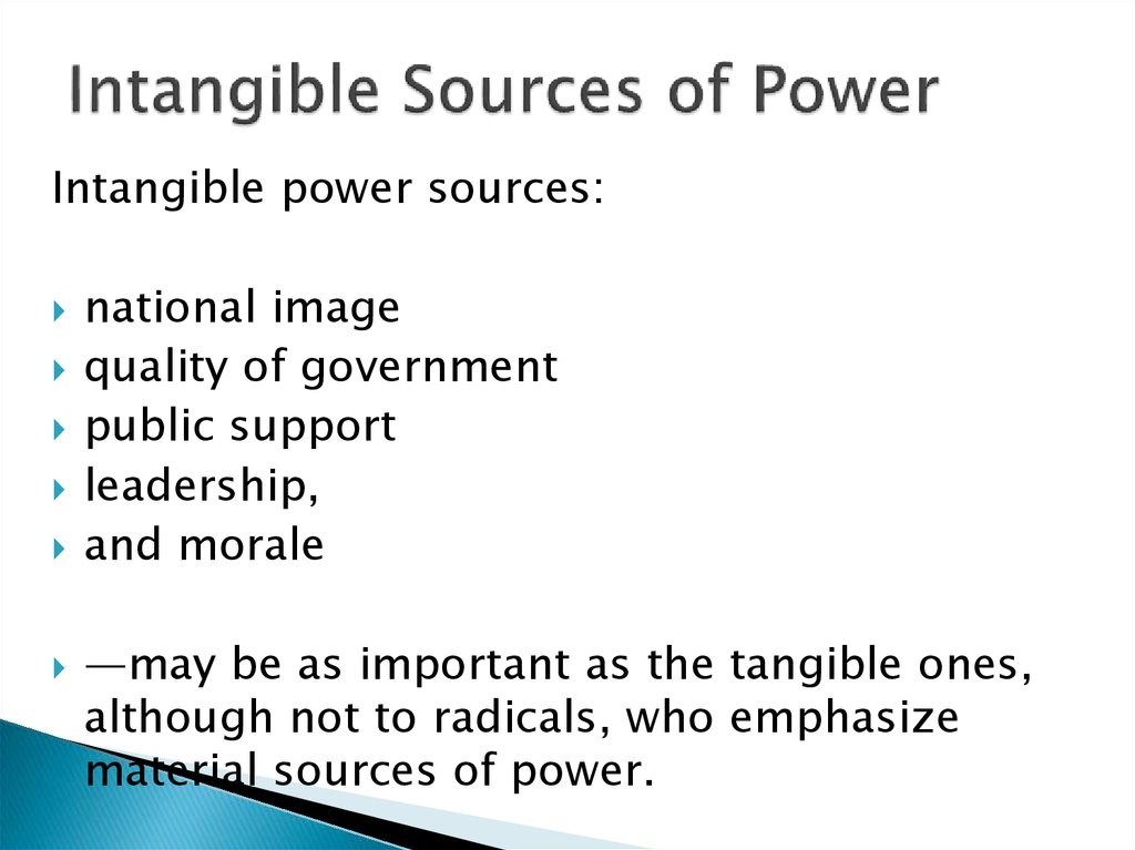 Intangible Sources of Power