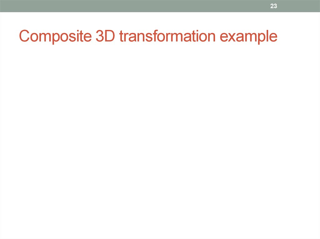 Composite 3D transformation example